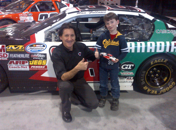 Adam with Ron Fellows in 2012